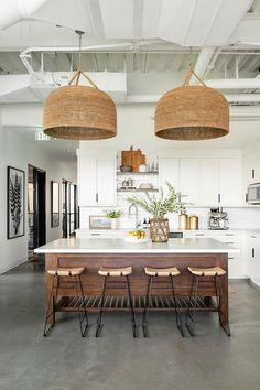 Boho Kitchen, Home Decor Kitchen, Interior Design Kitchen, New Kitchen, Home Kitchens, Kitchen Ideas, Kitchen Layout, Kitchen Furniture, Wood Furniture