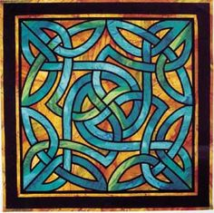 Knotwork I by Three Swans Studio of Canada. I carry their stained glass quilt patterns on my website.