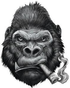 Gorilla Biker (Big Cigar)
