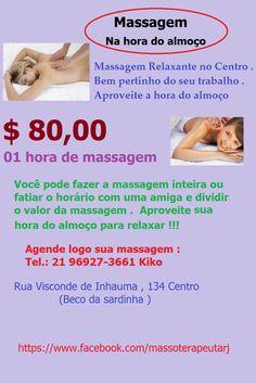 Oportunidade para você que trabalha no Centro do Rio e quer dar uma relaxadinha
