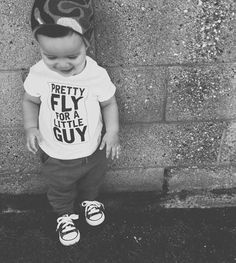 Baby Boy Shirt, Toddler Boy Shirt, Funny Boy Shirt, Pretty Fly for a little guy, Funny Toddler T-Shirt, Wild Boy Shirt, Little Brother Tee by KyCaliDesign on Etsy https://www.etsy.com/listing/285545751/baby-boy-shirt-toddler-boy-shirt-funny
