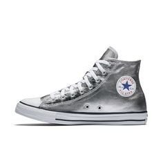 the best attitude d2f7f 3a362 Converse Chuck Taylor All Star Metallic High Top Women s Shoe Size 10.5  (Grey) Nike