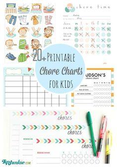 Printable Chore Charts for Kids-jpg
