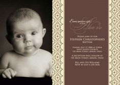 Custom Photo Baptism Christening Invitation