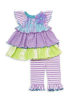 53d0ddb8594 Counting Daisies by Rare Editions 2-Piece Mixed Tier Tunic and Ruffled  Legging Set Toddler