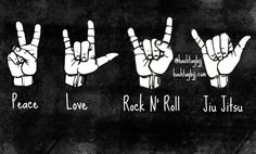 Peace, love, rock n'roll, jiu jitsu! #bjj #jiujitsu #mma #graciejiujitsu… Judo, Jiu Jitsu Quotes, Bjj Memes, Ju Jitsu, Dragons, Fight Night, Brazilian Jiu Jitsu, Muay Thai, Rock N Roll
