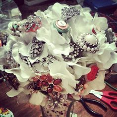Allison Reed Bridal Bouquet (Brooches and Buttons)