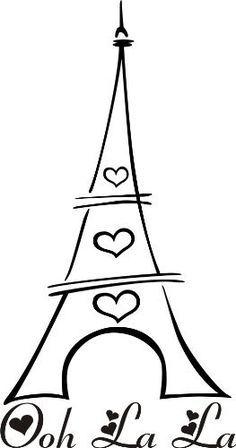 Ooh La La Eifel Tower Vinyl Art by Designs on Vinyl, Paris Birthday Parties, Paris Party, Paris Theme, Silhouette Projects, Silhouette Cameo, Eiffel Tower Drawing, Paris Rooms, Thinking Day, Vinyl Art