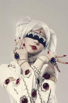 Cosplay girl. Medusa. Petshop of horrors