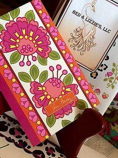 NEW Vera Bradley Mini Address Book Lilli Bell ~ Great Gift Idea!  Pink & White