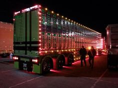 Bull hauler chicken lights its like a christmas tree goin down the road