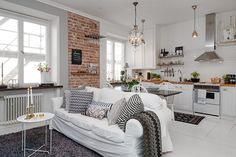 388 sq ft Swedish Apartment with White Decor