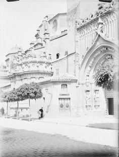 Murcia. Kathedrale. Seitenansicht [Perfil de la catedral de Santa María de y la portada meridional de los Apóstoles]WUN-05091_P.jpg