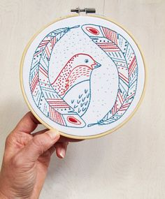 BIRD OF A FEATHER pdf embroidery pattern embroidery by cozyblue