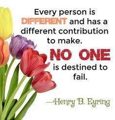 No one is destined to fail.