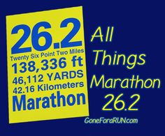 26.2 miles! All things marathon related from GoneForaRUN.com