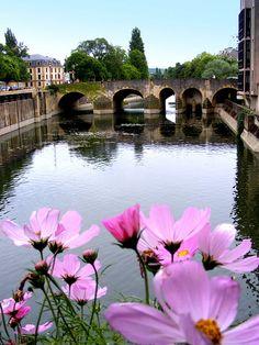 Le pont de la Préfecture, Metz, France