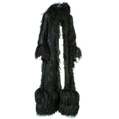 1stdibs.com   1990s CHANEL HAUTE COUTURE featured chiffon and ostrich coat