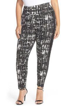 MELISSA MCCARTHY SEVEN7 Tuxedo Stripe Ponte Pants (Plus Size) available at #Nordstrom
