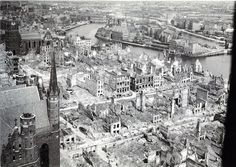 Germany Poland, Danzig, Prussia, City Buildings, Old Town, Paris Skyline, Monochrome, War, France