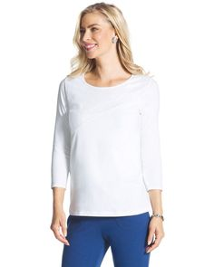 Chico's Women's Zenergy Gabrielle Placed Sequin Tee