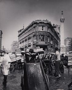 Porters at Billingsgate. 1960s