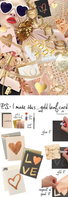 P.S.- I made this...Gold Leaf Cards with @PresshausLA #PSIMADETHIS #DIY