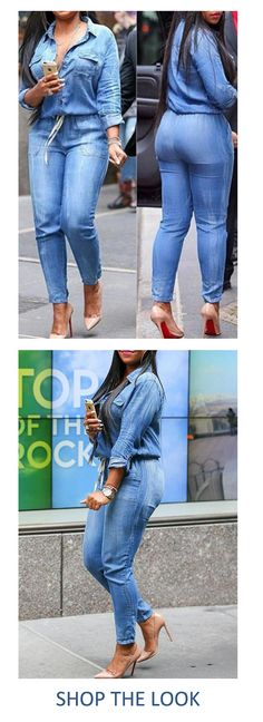 00eb3c52afe This sexy denim all-in-one romper suit will accentuate your curves in all