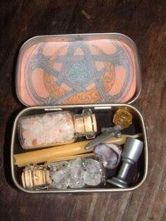 Altoid Tin Traveling Altar