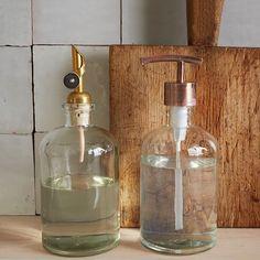 Copper Top Pump + Pour Soap Dispensers | West Elm