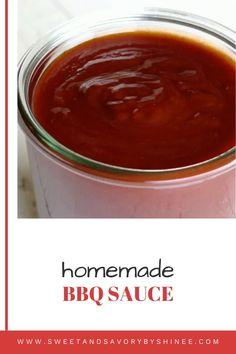 Home Made Bbq Sauce, Make Bbq Sauce, Homemade Bbq Sauce Recipe, Barbecue Sauce Recipes, Bbq Sauces, Recipe For Bbq Sauce For Ribs, Easy Barbecue Sauce Recipe, Sweet And Spicy Bbq Sauce Recipe, Sweet Sauce