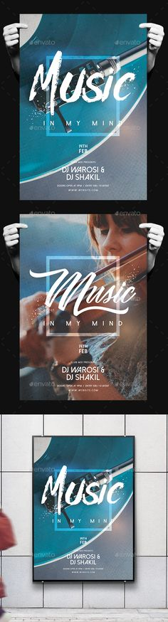 Music Party #Flyer - Clubs & Parties Events Download here: https://graphicriver.net/item/music-party-flyer/19516814?ref=alena994