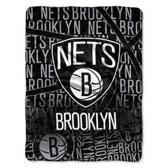 Brooklyn Nets NBA Redux Raschel Throw.  Visit SportsFansPlus.com for Details.