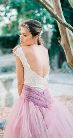 Lavender tulle  #wedding