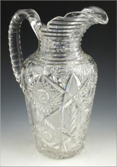 Stunning American Brilliant Period Cut Glass Jug Pitcher | eBay