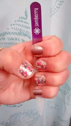 Jamberry - May 2016 Sister Style Floral Fusion accented with Rose Gold Sparkle Jamberry Consultant, Jamberry Nail Wraps, Nail Stuff, Gold Sparkle, Manicures, Stampin Up Cards, Nail Care, Girly Things, Hair And Nails