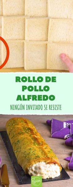 Una nueva versión del pollo Alfredo que está para chuparse los dedos. #rollodepolloAlfredo #polloAlfredo #pollo #comidacreativa #facilyrapido #comidarica #platoparatodalafamilia