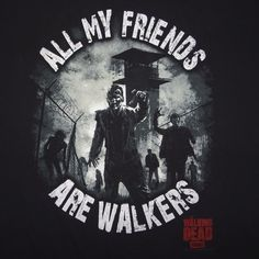 "The Walking Dead ""All My Friends Are Walkers"" AMC XXL T-Shirt"