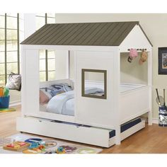 Browse the Furniture of America White Full Size House Bed. Shop OC Furniture for lowest prices house beds with free delivery in So. Full Bed, Bunk Beds With Storage, Bed Storage, Grey And White Bedding, Full Platform Bed, Full Size Mattress, Kid Beds, House Beds For Kids, Child Room