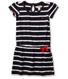Hatley Kids Kids Dropped Waist Dress (Toddler/Little Kids/Big Kids) Blue Stripe Anchor - 6pm.com