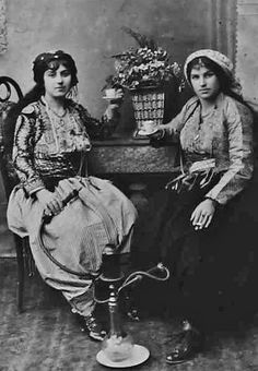 A young Armenian woman with her friend. Constantinople, 1916.