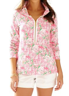 Lilly Pulitzer Skipper Printed Popover in Pink Colony