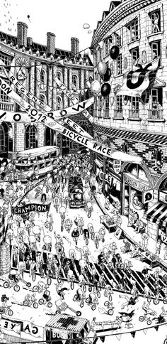 Creative Review - Ugo Gattoni's illustrated London bicycle race
