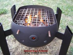 Outdoor Bbq Kitchen, Pizza Oven Outdoor, Outdoor Kitchen Design, Diy Wood Stove, Wood Stove Cooking, Barbecue Design, Grill Design, Fire Pit Grill, Bbq Grill