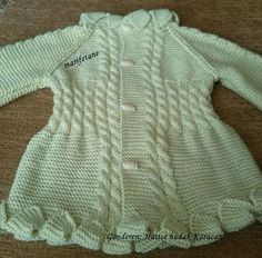 Marifetane- İğne Oyası ve Açıklamalı modeller: Robadan  (Yakadan) Başlama Bebek Hırkası Nasıl Örü...