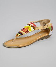 Loving this Beige Gardenia Sandal on #zulily! #zulilyfinds