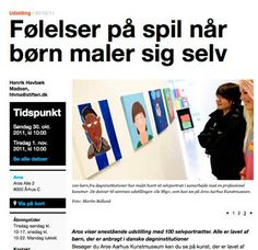 Plakat til børnehjælpsdagens udstilling SE MIG på ARoS / grafik og opsætning: anetmai.com Udarbejdet af grafisk designer Anne Mark Møller