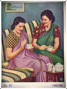 India has a distinguishing flavor in art, be in movie posters or vintage ads or paintings - it can be seen right from the pre-Independent times. Vintage India, Vintage Tea, Colonial India, Indian Illustration, Indian Aesthetic, India Independence, Pop Art Wallpaper, Asian History, Indian Art History