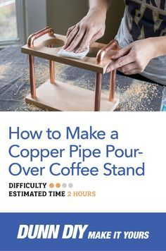 Build your own DIY copper pipe pour-over coffee stand with this simple tutorial.