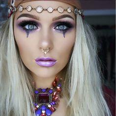 fortune teller costumemakeup from instagram kelly_janexx - Halloween Makeup For Beginners